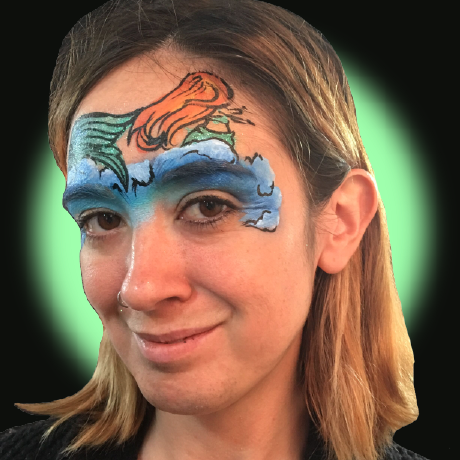 Video: Mermaid Mask Face Paint Design Tutorial by Kellie Burrus