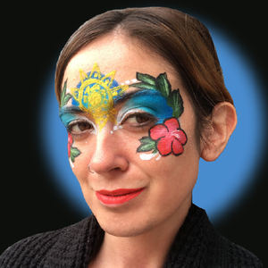 Moana-Inspired Face Paint Video Tutorial by Kellie Burrus
