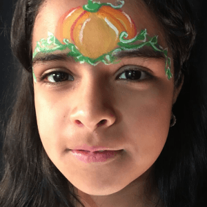 Pumpkin Princess Face Paint Design Tutorial by Kiki