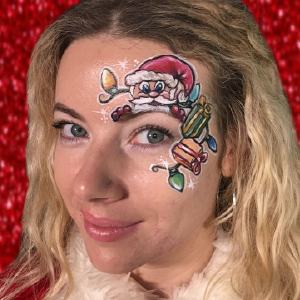 Santa's Gifts Face Paint Design Video by Athena Zhe