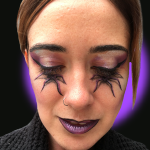 Spider Eyes Face Paint Design Video Tutorial by Kellie Burrus