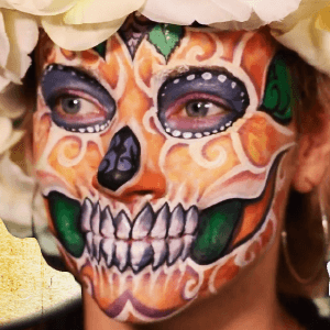 Spring Sugar Skull Face Paint Design Video by Athena Zhe
