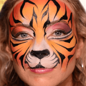 How to Paint Tiger Stripes Video by Athena Zhe