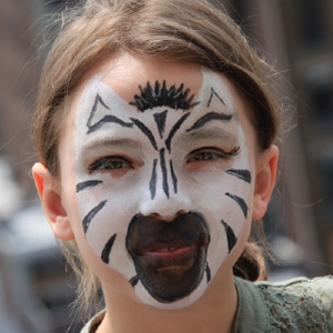 Easy Zebra Face Paint Video Tutorial by Kiki