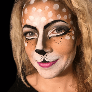 Fabulous Reindeer Face Paint Design Video by Athena Zhe