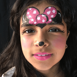 Minnie Mouse Face Paint Design Tutorial by Kiki