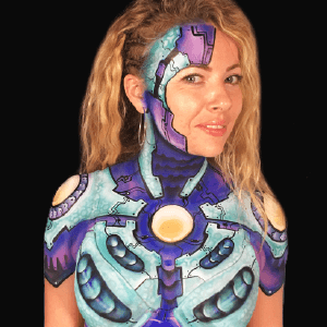 Sexy Robot Airbrush Body Paint Design by Athena Zhe