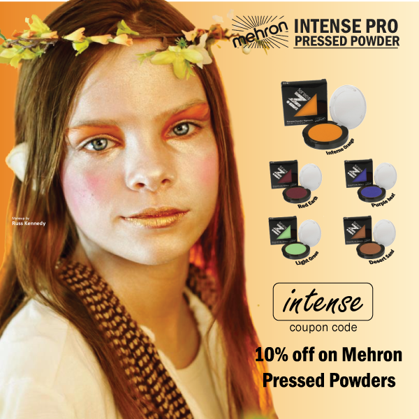 Promotion: 10% Off Mehron INtense Pro Pressed Powder!