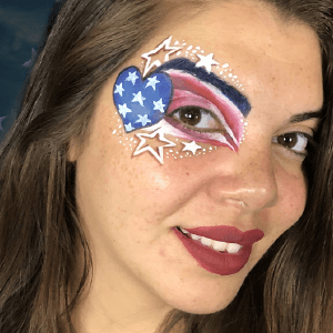 4th of July Eye Design Face Paint Video by Athena Zhe