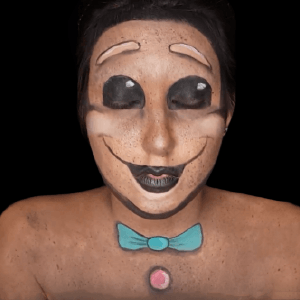 Gingerbread Man Face Paint Video by Ana Cedoviste