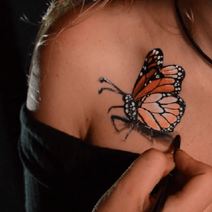 Realistic Butterfly Wings Video Tutorial by Athena Zhe