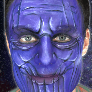 Thanos Makeup Video by Kellie Burrus
