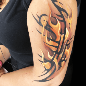 Tribal Flames Design by Athena Zhe