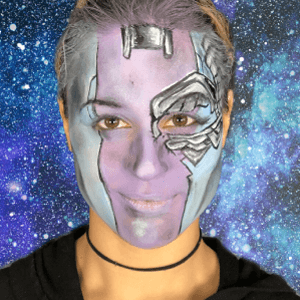 Nebula Face Paint Design Video by Shelley Wapniak