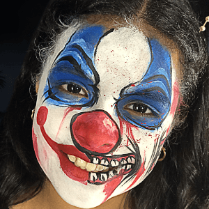 Scary Clown Design Video by Kellie Burrus