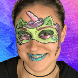 Zombie Unicorn Mask Design Video by Shelley Wapniak