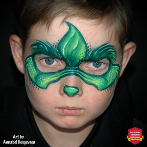 Easy One-Stroke Grinch Mask by Annabel Hoogeveen