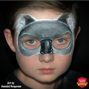 Koala Mask Face Paint Design by Annabel Hoogeveen