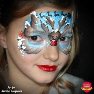 Quick Christmas Butterfly with Rudolph by Annabel Hoogeveen
