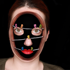 Face Parts Illusion Face Paint Design Video by Ana Cedoviste
