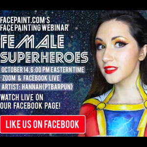 Webinar: Female Superheroes Face Paint Designs With Hannah (PTBarpun)
