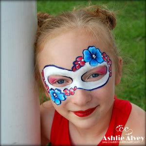 Easy Patriotic Floral Mask by Artist Ashlie Alvey