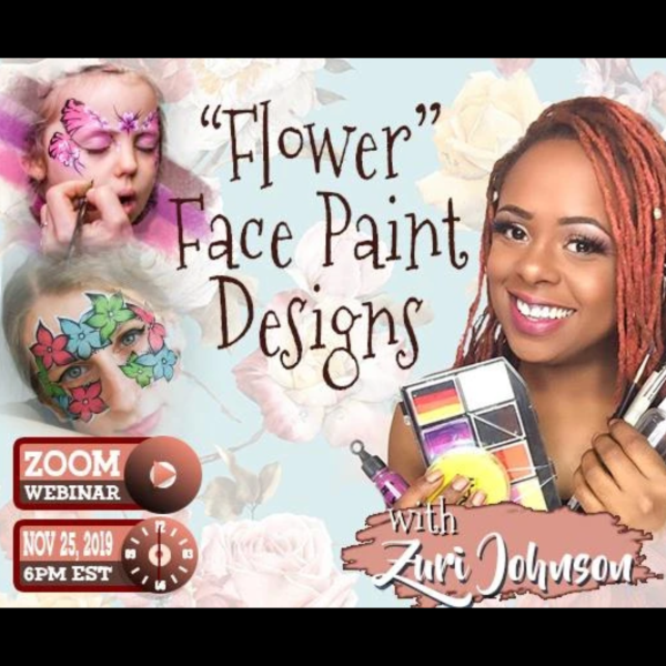 Webinar: Face Painting Flower Designs With Zuri FX