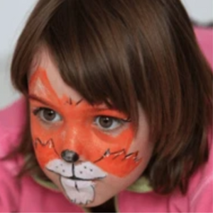 Easy Fox Face Paint Video Tutorial by Kiki