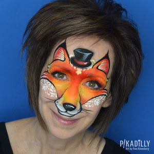 """Foxy"" Face Paint Design by Pam Kinneberg"