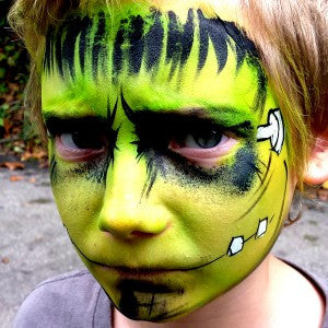 How to Face Paint a Frankenstein Monster