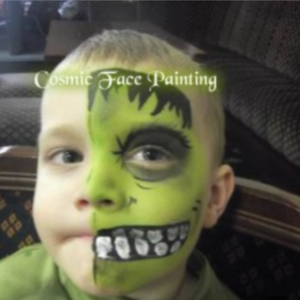 Frankensteins Monster Face Paint Design