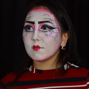 Cherry Blossom Geisha Face Paint Design Video by Athena Zhe