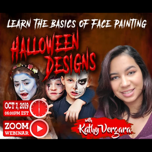 Webinar: How to Face Paint Halloween Designs With Kathy Vergara