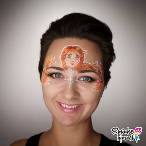 Frozen 2 Anna Face Paint Video by Helene Rantzau