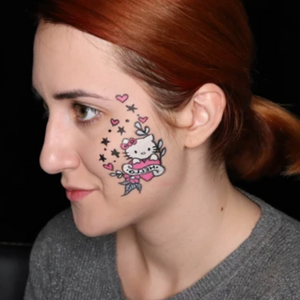 Hello Kitty Cheek Art Design Video by Ana Cedoviste