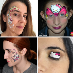 How to Face Paint Hello Kitty - Top 4 Hello Kitty Face Paint Designs & Videos