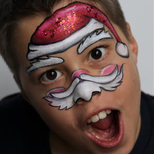 Santa Mask Face Paint Desin by Belén Te Pinta