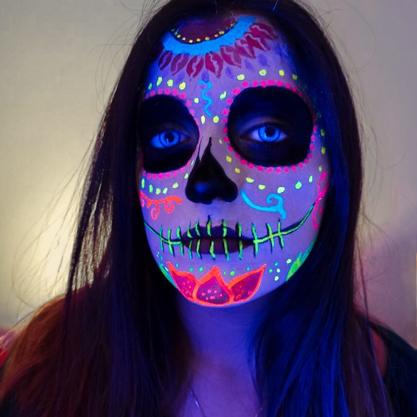 UV Calavera Face Paint Tutorial by Francesca Marchitelli