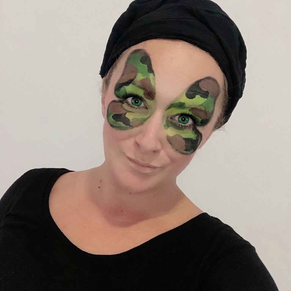 Butterfly Camouflage Face Paint Design by Marina