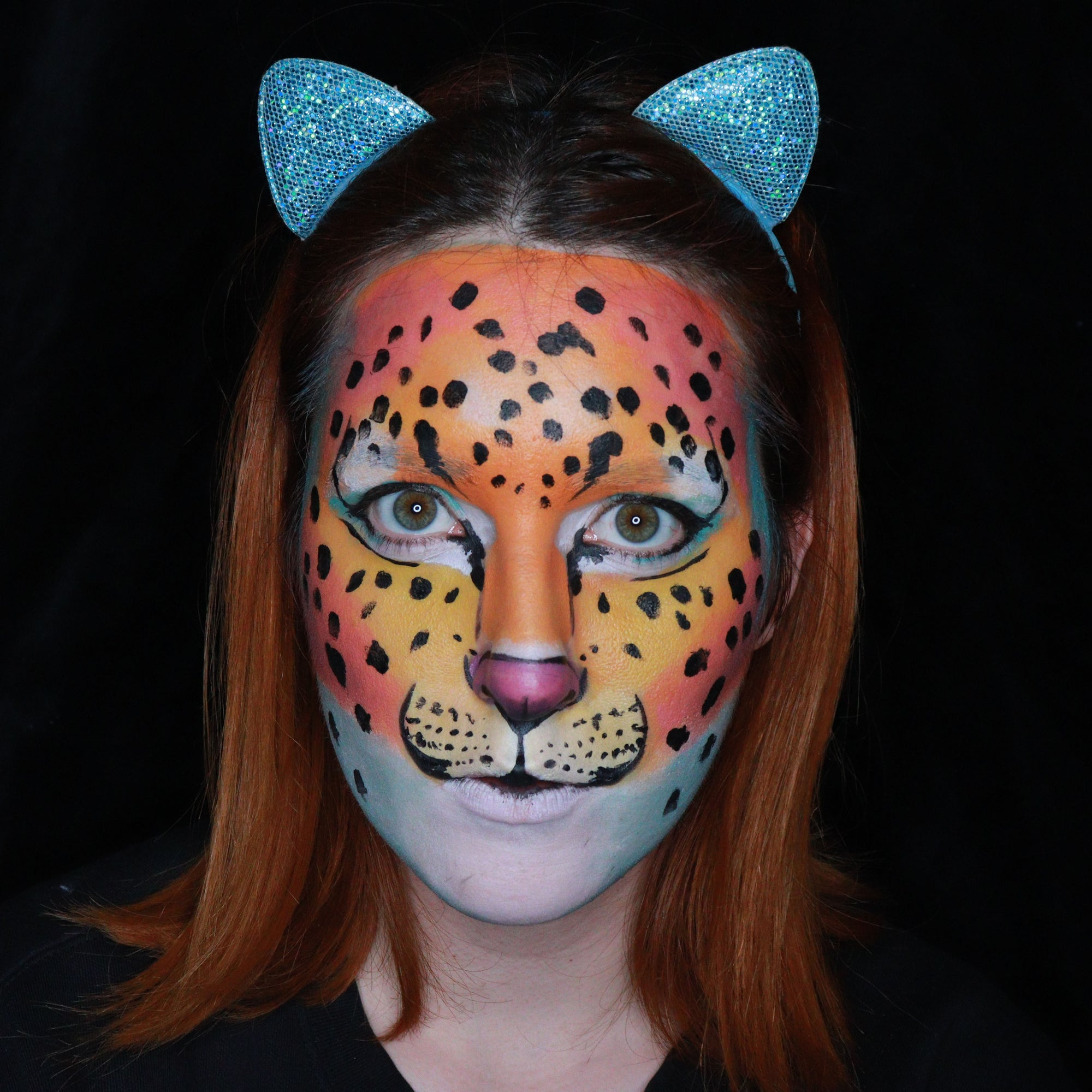 Leopard Face Paint Design by Ana Cedoviste