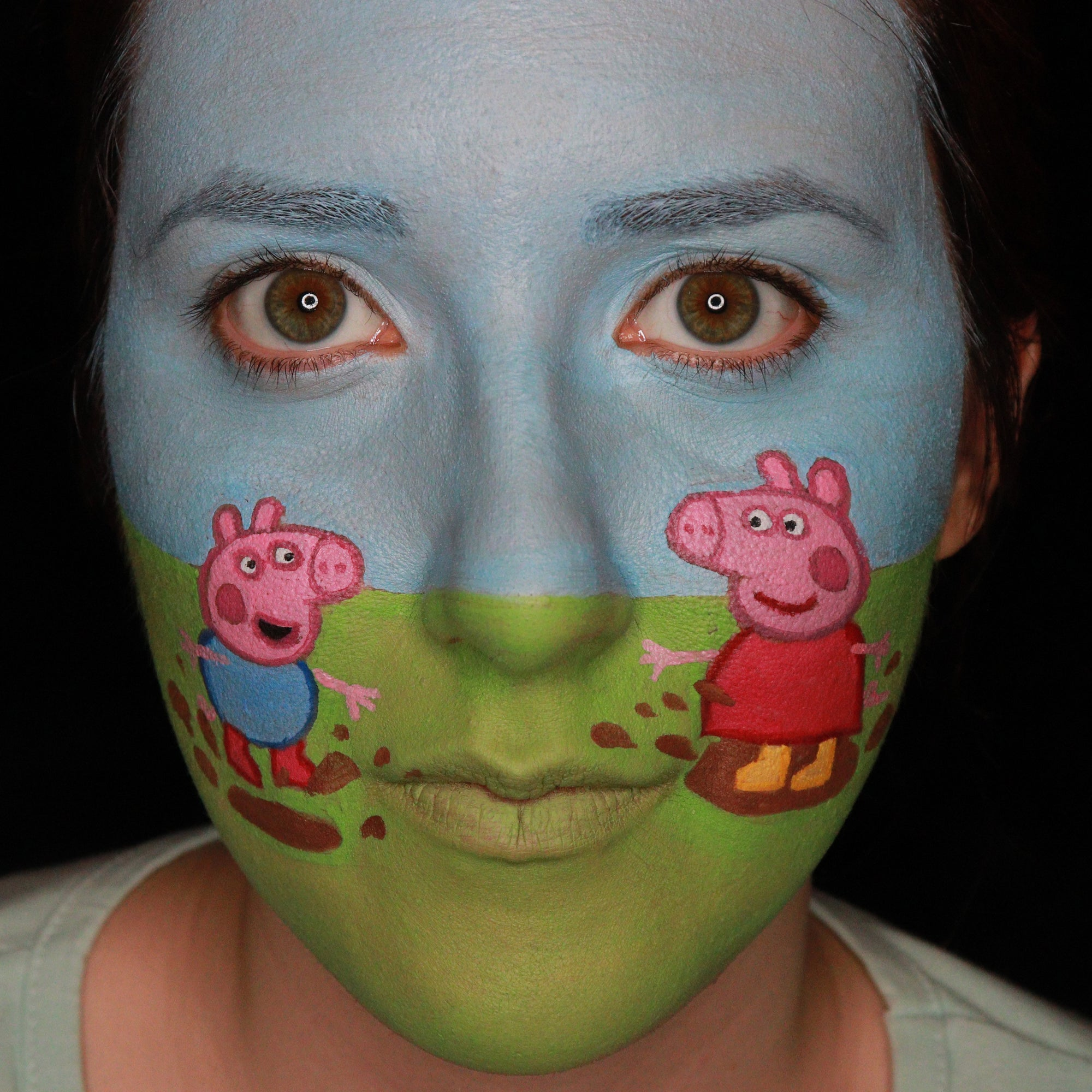 Peppa Pig Face Paint Design by Ana Cedoviste