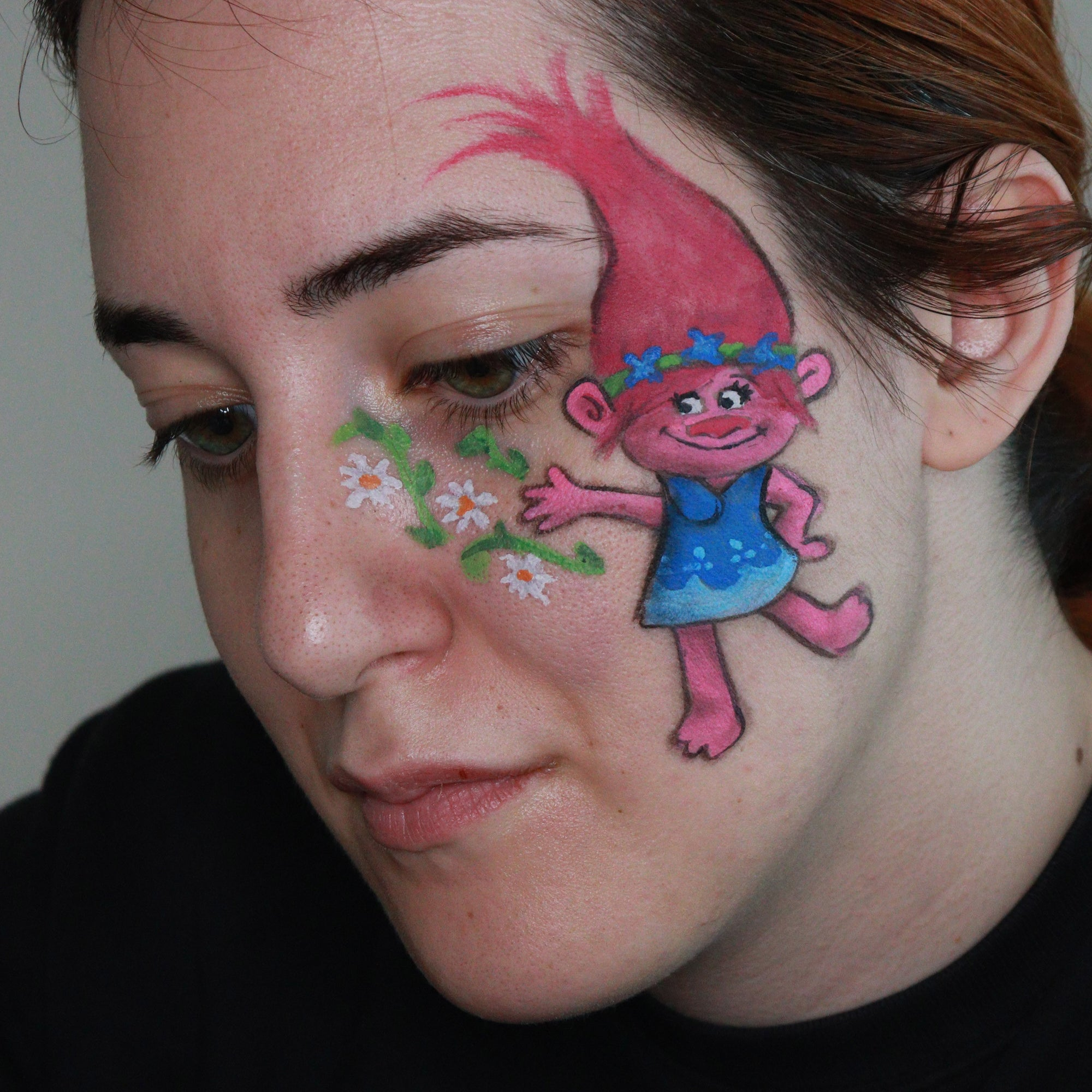 Trolls Movie Face Paint Design by Ana Cedoviste