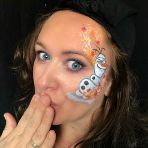 Frozen 2- Cute and Funny Olaf Face Paint Design by Marina