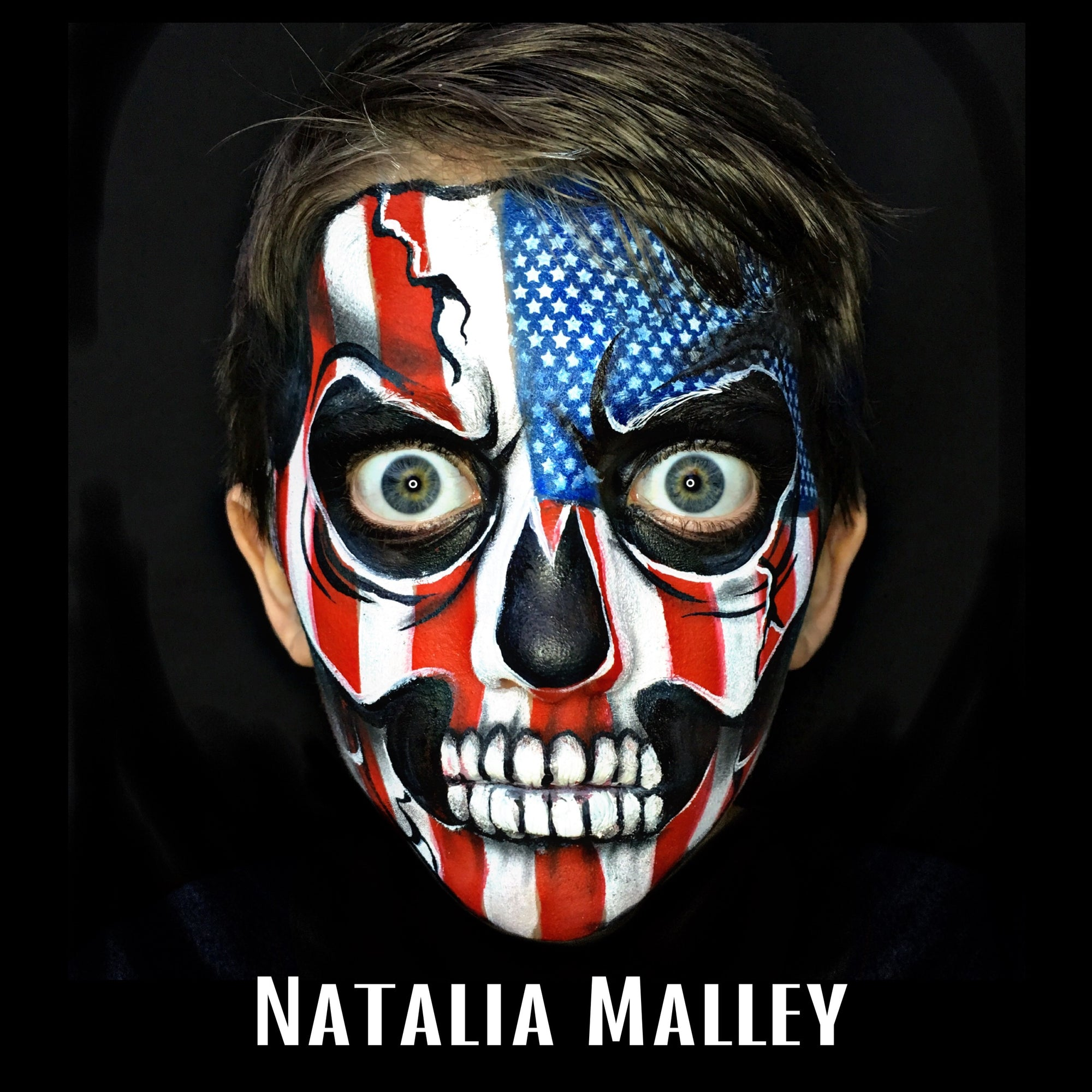 Patriotic Skull by Natalia Malley