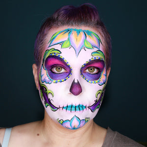 UV Sugar Skull Face Paint Tutorial