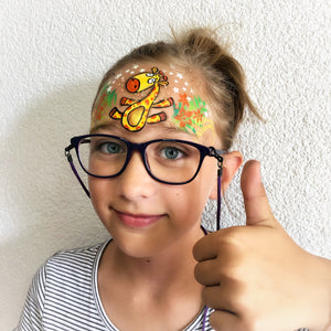 Painting With Glasses - Cute Giraffe Design by Marina