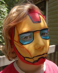 How to face paint Iron Man