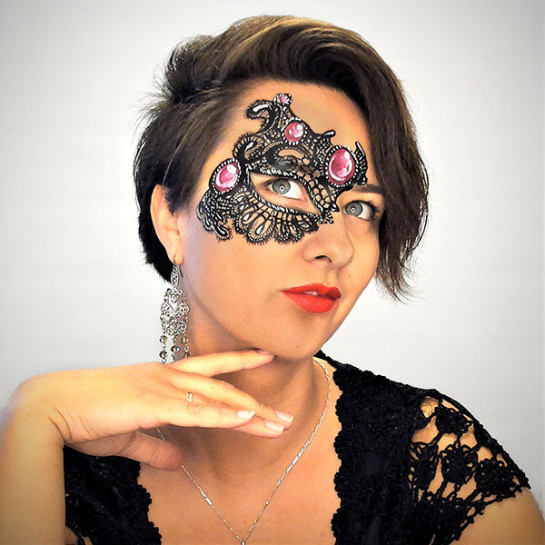 Lace Mask With Gems Face Paint Video by Helene Rantzau