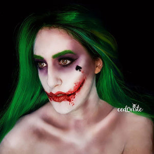 Female Joker Face Paint Video by Ana Cedoviste
