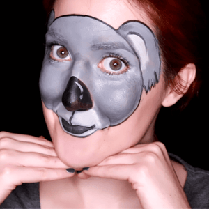 Koala Face Paint Design Video by Ana Cedoviste